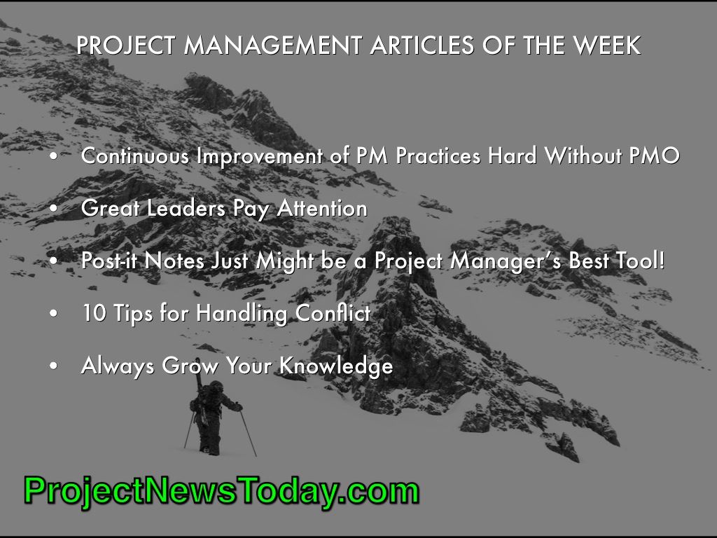 Popular Project Management Articles Apr142