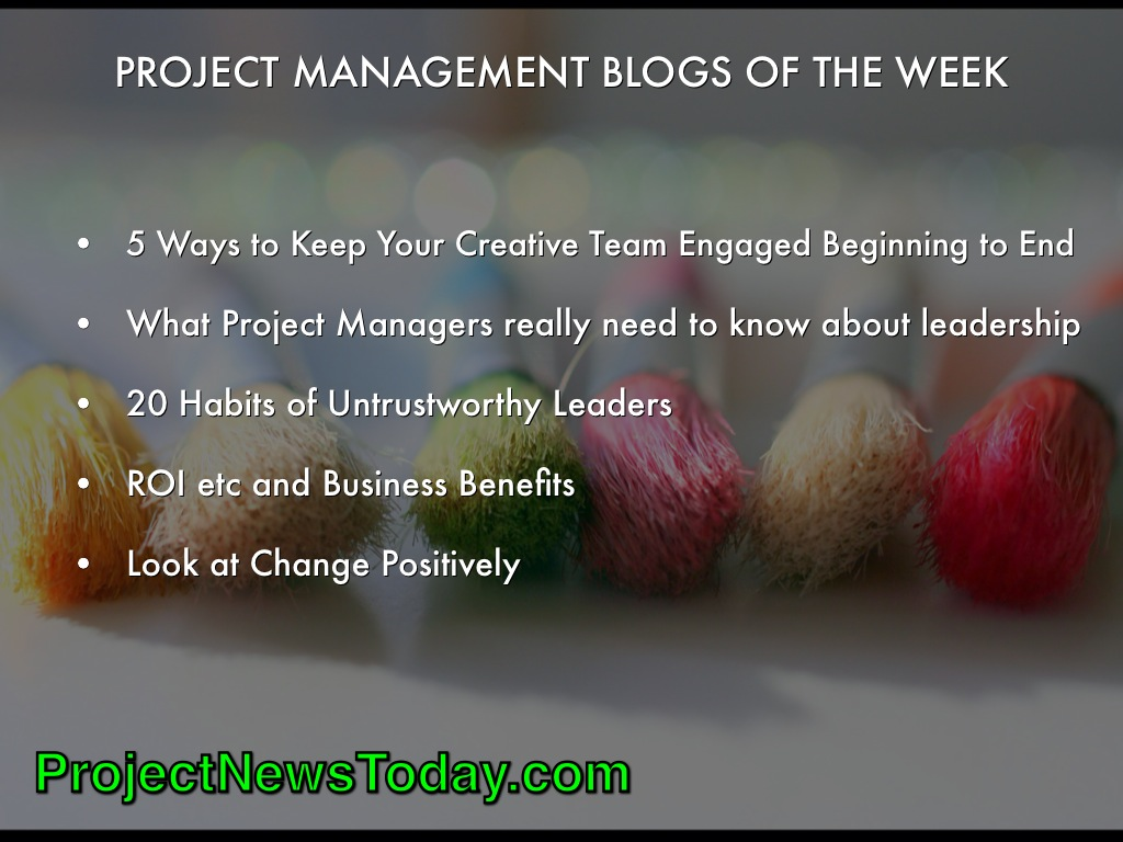 project management blog Where top executives go for proven bpm, evm and oracle primavera-focused advice to improve their project portfolio.