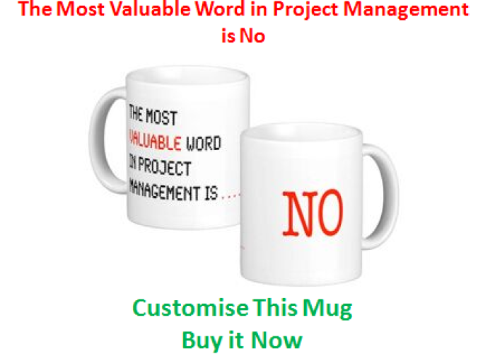 (12) The Most Valuable Word in Project Management is No