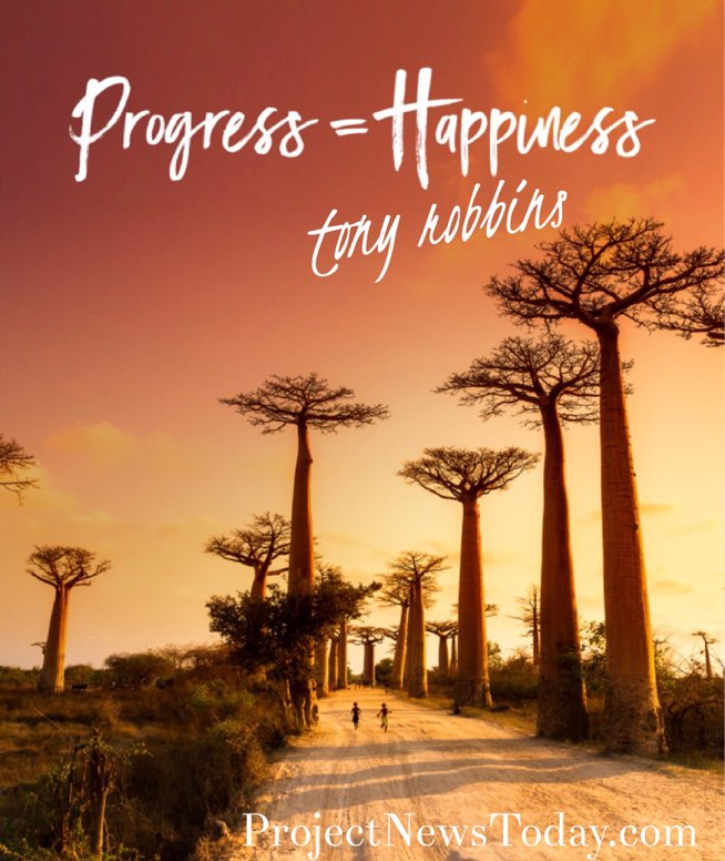 progress equals happiness