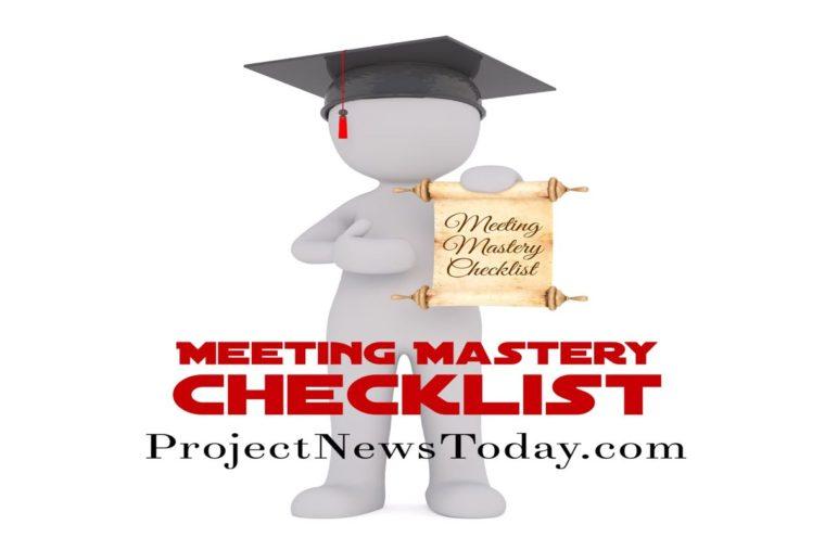 meeting mastery checklist
