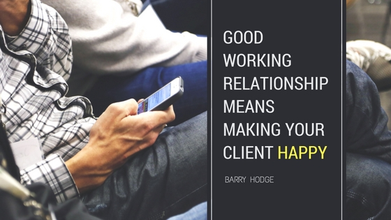 working relationship quote barry hodge